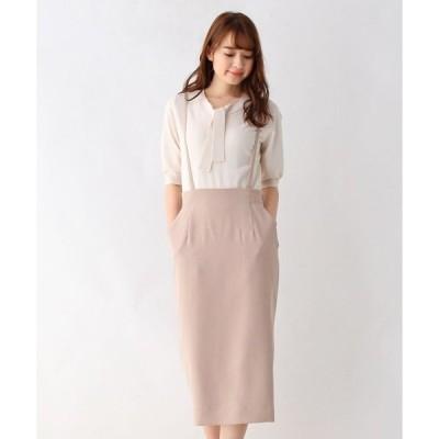 スカート コンパクトツイルサスペンダータイトスカート【WEB限定サイズ】