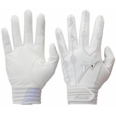 Mizuno ミズノ スポーツ用品  Youth White Covert MLB Batting Gloves