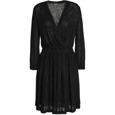 ジャストカヴァリ JUST CAVALLI ミニワンピース&ドレス ブラック 40 レーヨン 100% ミニワンピース&ドレス