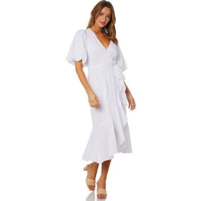 ミンクピンク Minkpink レディース パーティードレス ラップドレス ワンピース・ドレス Carrie Wrap Dress White