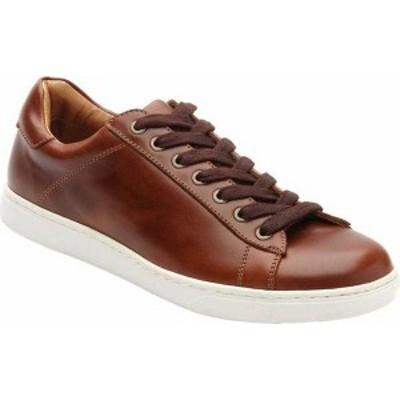 バイオニック メンズ スニーカー シューズ Men's Vionic Baldwin Cupsole Sneaker Dark Brown Leather