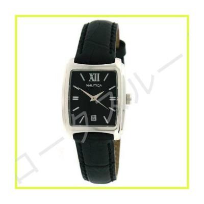 Women Watch Nautica N08010L Stainless Steel Case Black Dial Leather Bracelet Da 並行輸入品