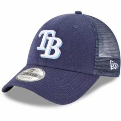 New Era ニュー エラ スポーツ用品  New Era Tampa Bay Rays Navy Trucker 9FORTY Adjustable Snapback Hat