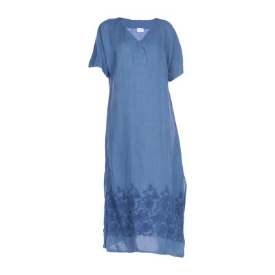 LFDL LA FABBRICA DEL LINO 7分丈ワンピース・ドレス ブルーグレー S 麻 100% 7分丈ワンピース・ドレス