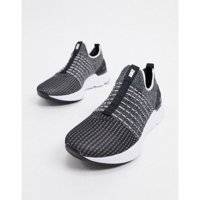 ナイキ メンズ スニーカー シューズ Nike Running React Phantom flyknit trainers in black Black