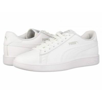 PUMA プーマ メンズ 男性用 シューズ 靴 スニーカー 運動靴 Smash V2 L Puma White/Puma White【送料無料】