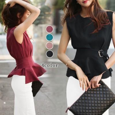 G9シフォンブラウス レディースシャツ サイドスリットリボンが リボン ブラウス ワイシャツ ビジネス OL 通勤