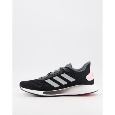 アディダス adidas performance レディース ランニング・ウォーキング シューズ・靴 adidas Running Galaxar trainers in black ブラック