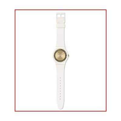 【新品未使用】Swatch Women's Quartz Watch with Silicone Strap, White, 22 (Model: SUOW168)【並行輸入品】