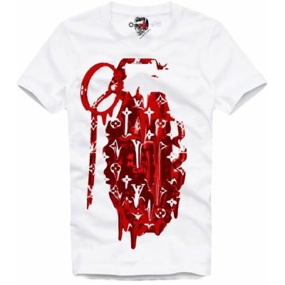 E1SYNDICATE T SHIRT RED GRENADE 4199  サイズ:M イーワンシンジケート Tシャツ