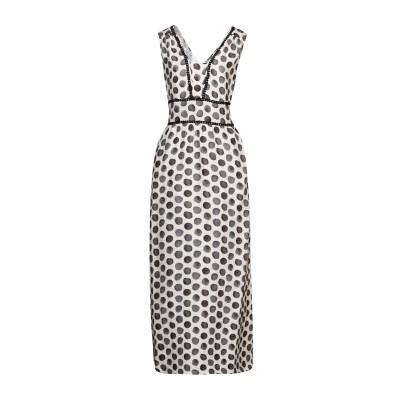 LFDL ロングワンピース&ドレス アイボリー S リネン 100% ロングワンピース&ドレス