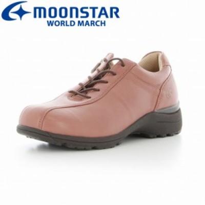 ≪セール≫ 送料無料 ムーンスター ワールドマーチ レディース ウォーキングシューズ 靴 WL2547EE ピンク 高機能