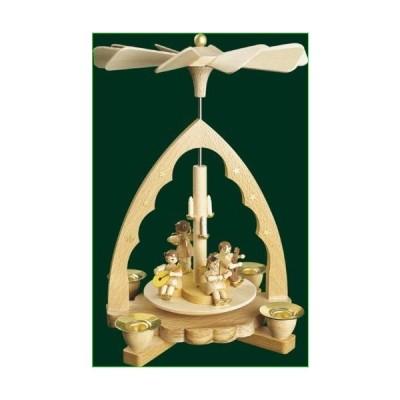 Natural Wood Christmas Pyramid Angel's Concert, 7.6 Inches並行輸入品
