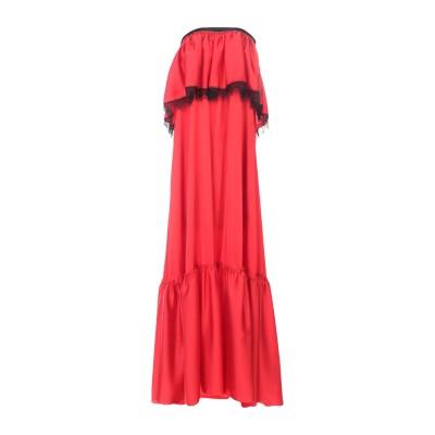MARIUCCIA ロングワンピース&ドレス レッド XS ポリエステル 98% / ポリウレタン 2% ロングワンピース&ドレス