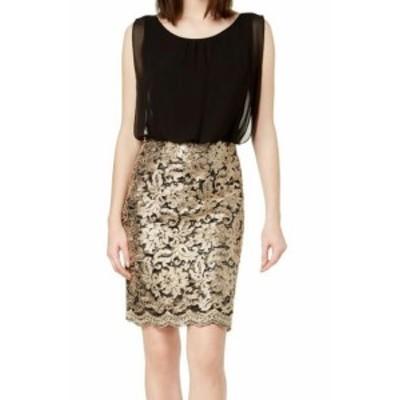 Calvin Klein カルバンクライン ファッション ドレス Calvin Klein Womens Black Size 4 Jacquard Colorblock Sheath Dress