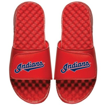 MLB クリーブランド・インディアンス サンダル/シューズ Wordmark Slide Sandals ISlide レッド