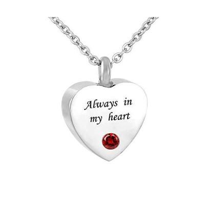 Q&Locket ハートラブ骨壺ネックレス いつも心の中に遺灰を メモリアル形見 火葬ジュエリー