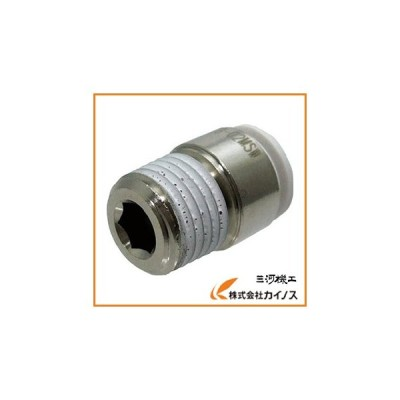 チヨダ ファイブ六角穴付メイルコネクター W(白)8mm・R1/4 F8-02MSW