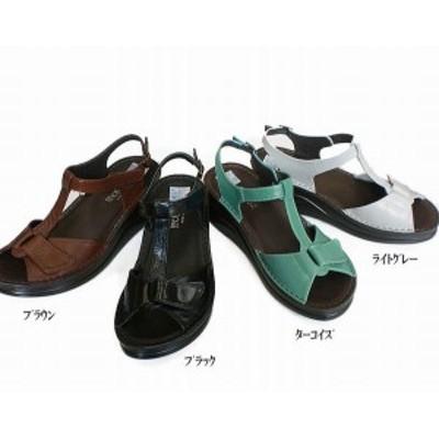 サンダル レディースシューズ レディースファッション 靴 夏商品 本革 Tストラップサンダル S M L LL 4色展開 こだわり 日本製 夏