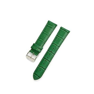 【新品・送料無料】CASSIS[カシス] カーフ 型押し 時計ベルト 裏面防水素材 AVALLON アバロン 20mm グリーン 交換用工具付き X1022238075