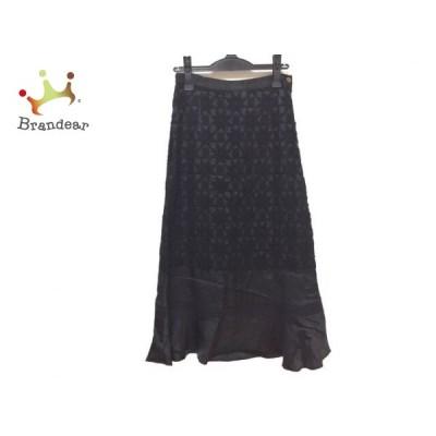 トリココムデギャルソン ロングスカート サイズM レディース 新品同様 黒 フラワー/フレア/刺繍 新着 20200712