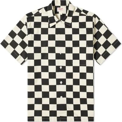 ザ リアル マッコイズ The Real McCoys メンズ 半袖シャツ トップス the real mccoy's buco checkered shirt White/Black