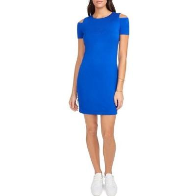 ワンステート レディース ワンピース トップス Cold Shoulder Knit Sheath Dress Cobalt Sea