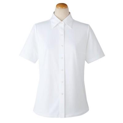 セロリーセロリー(Selery) 半袖ブラウス ホワイト 11号 S-36808 1着(直送品)