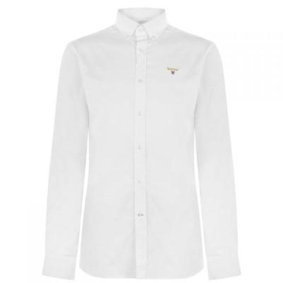 バブアー Barbour メンズ シャツ トップス Crest Saltire Pima Jersey Polo Shirt White WH