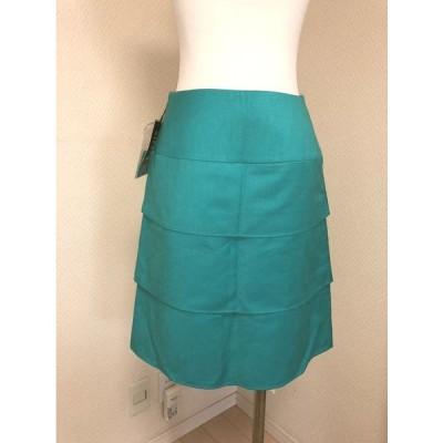 SIERRA 小さいサイズ ティアードタイトスカート36号 エメラルド