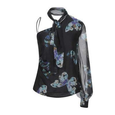 ATOS LOMBARDINI トップス  レディースファッション  トップス  Tシャツ、カットソー  半袖 ブラック