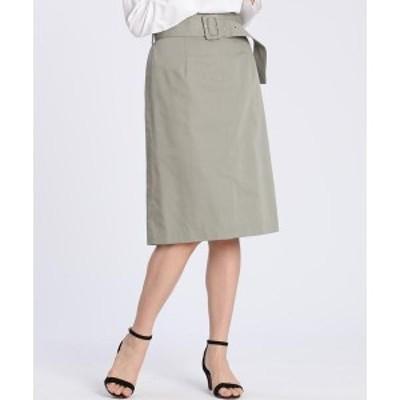 CLEAR IMPRESSION(CLEAR IMPRESSION)/ベルト付きタイトスカート