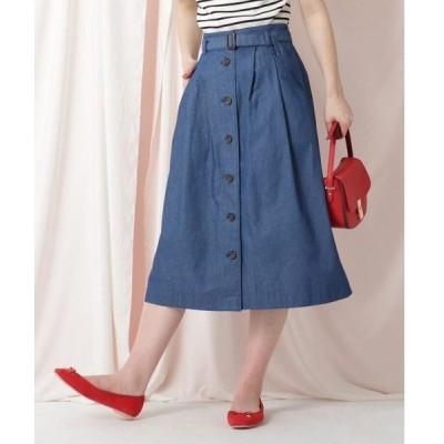 Couture Brooch / クチュールブローチ 【WEB限定サイズ(LL)あり/洗える】デニムライクスカート