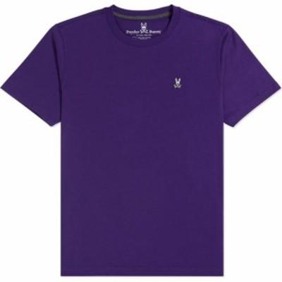 サイコバニー PSYCHO BUNNY メンズ Tシャツ トップス Classic Crewneck T-Shirt Varsity Purple