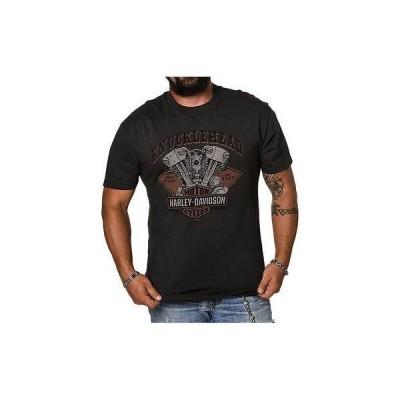 ハーレーダビッドソン? Tシャツ トップス ウエア Harley-Davidson メンズ Knucklehead Motor B&S 半袖 Tシャツ Tar グレー