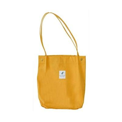 EMSO ショルダーバッグ レディース 帆布 キャンバス a4 かたかけバッグ 手提げバッグ (イエロー)