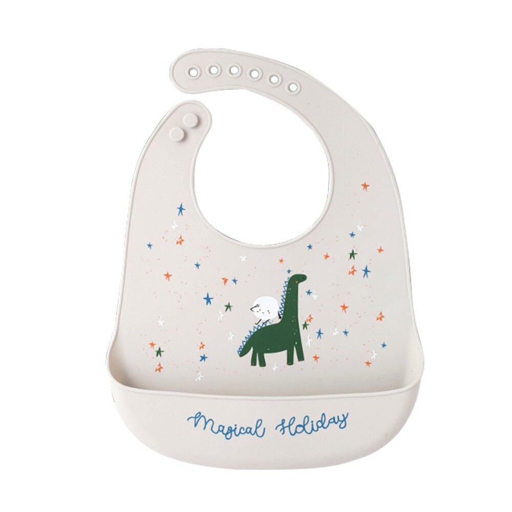 【滿額領卷折50】Muslintree嬰兒圍兜矽膠圍嘴兒童防水飯兜-JoyBaby