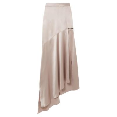 MICHAEL LO SORDO ロングスカート ドーブグレー 10 シルク ロングスカート