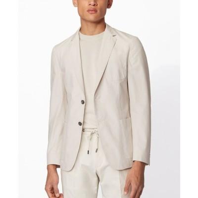 ヒューゴボス ジャケット&ブルゾン アウター メンズ BOSS Men's Nolvay Slim-Fit Jacket Natural