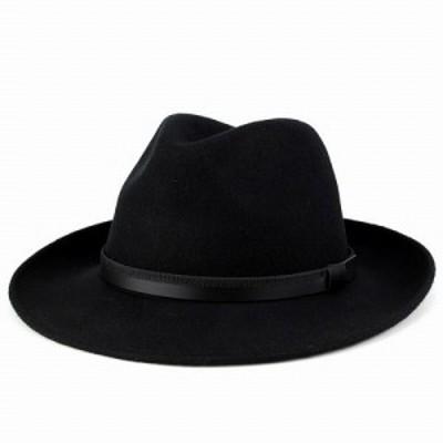 中折れ帽子 メンズ  秋 冬 ソフトハット フェルト イタリア製 帽子 Di CHIARA ROSA ディ・キアラ・ロ-ザ ワイド ブリム 大きいサイズ 中