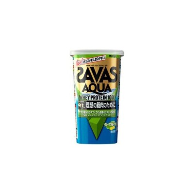 ザバス(SAVAS) アクア ホエイプロテイン100 グレープフルーツ風味 294g 14食分 【プロテイン】