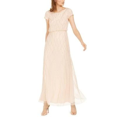 アドリアナ パペル ワンピース トップス レディース Embellished Gown Champagne Sand