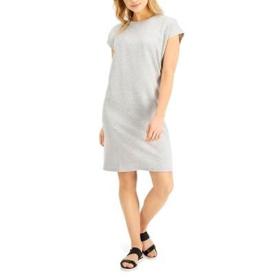 エイリーンフィッシャー ワンピース トップス レディース Relaxed Cap-Sleeve Dress Dark Pearl