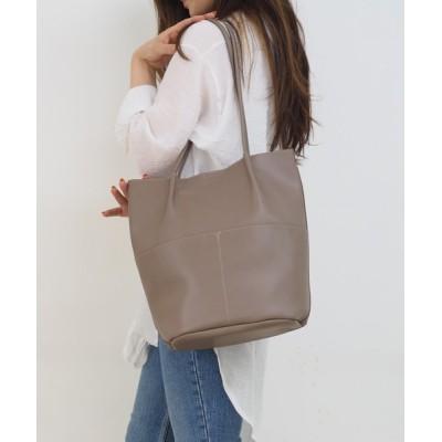 Bonjour Sagan / 【ポートジュール】エコレザー サイドポケットトートバッグ ZOZO限定 WOMEN バッグ > トートバッグ