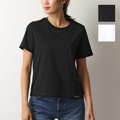 3.1 Phillip Lim スリーワンフィリップリム S201 1800NHJ LOGO CREW クルーネック 半袖 Tシャツ カットソー コットン BLACK レディース