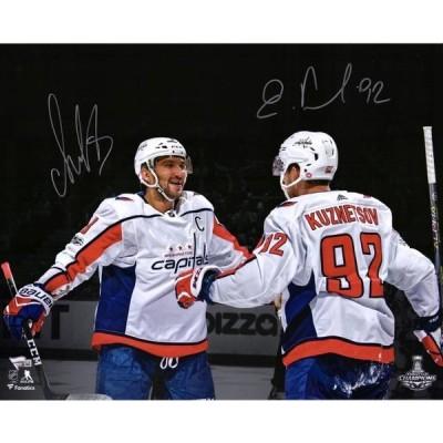ユニセックス スポーツリーグ ホッケー Alex Ovechkin & Evgeny Kuznetsov Washington Capitals Autographed 16 x 20 Photograph - Fanatics