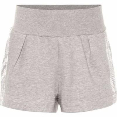 アディダス Adidas by Stella McCartney レディース ショートパンツ ボトムス・パンツ Cotton-blend shorts Medium Grey Heather