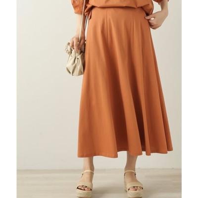 フレームスレイカズン frames RAY CASSIN シルケット天竺フレアースカート (オレンジ)