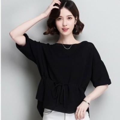 春らしい シルク シャツ 半袖 全3色 サイズ展開豊富