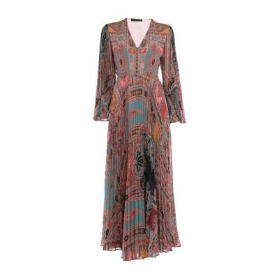 エトロ ETRO ロングワンピース&ドレス 赤茶色 42 ポリエステル 100% ロングワンピース&ドレス